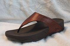 FitFlop Lulu Weave Flip Flops MSRP $130 Bronze Toning Sandals NEW FREE SHIP #FitFlop #FlipFlops