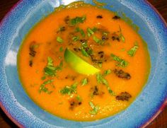 Coconut Carrot Soup with Forbidden Rice by Cathy Vogt