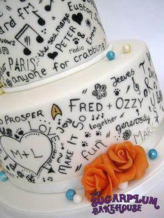 Retro Radio Graffiti Wedding Cake