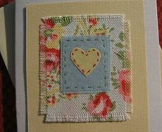 Hand-stitched card made by Helen Drewett with very pretty Cath Kidston fabric | eBay