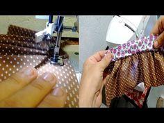 CALCADOR DE FRANZIR: Aprenda a regular a máquina - Franzir com dois tecidos…