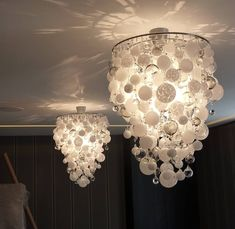 Breaking the rules of scale pinterest capiz shell chandelier this would be an easy chandelier to make out of christmas ornaments aloadofball Image collections