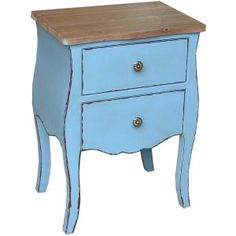 Blue with Gold Trims Double Wooden Drawers