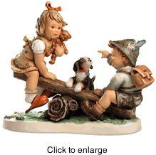 """Hummel figurine """"Teeter Totter Time"""" HUM 2313"""
