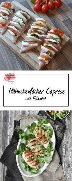 Hähnchenfächer Caprese | Kochen | Rezept | Weight Watchers Sehr sehr lecker auch mit Feta und Zwiebeln