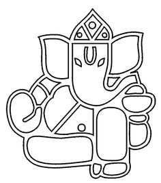 Shiva coloring pages lord unique drawing for kids at of hair color ideas dark with highlights god parvati col Arte Ganesha, Lord Ganesha, Stained Glass Paint, Stained Glass Patterns, Unique Drawings, Easy Drawings, Zentangle, Ganesha Drawing, Buddha
