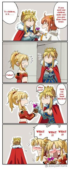 Lancer Artoria and Mordred