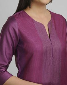 Fabindia is India's largest private platform for products that are made from traditional techniques, skills and hand-based processes. Salwar Pattern, Kurta Patterns, Dress Patterns, Neckline Designs, Dress Neck Designs, Blouse Designs, Modele Hijab, Churidar Designs, Kurta Neck Design