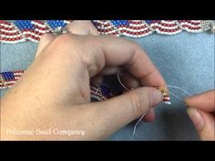 Video: Seed Beading 386 Wavy American Flag Bracelet - YouTube.   #Seed #Bead #Tutorials