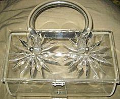 Gilli Original Lucite Carved Vintage Purse