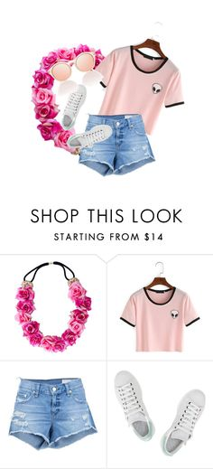 """""""Outfit #1"""" by gracesteer ❤ liked on Polyvore featuring rag & bone/JEAN and adidas"""