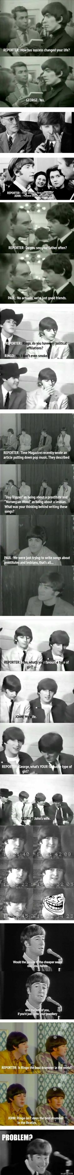 Oh these guys..lol...who doesn't love the Beatles?