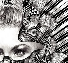 Altered portraits with pattern, Iain Macarther is amazing.
