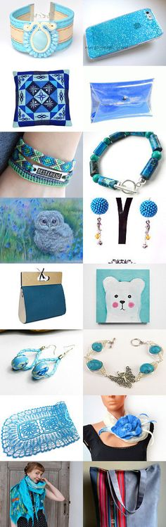 Shades of blue from Poletsy. :) by poletsy on Etsy--Pinned with TreasuryPin.com