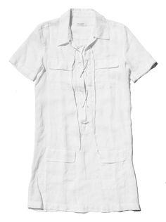 Equipment Lace Up Shirt Dress