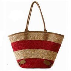 Womens Straw Summer Weave Woven Shoulder Tote Shopping Beach Bag Purse Handbag Straw Beach Bags