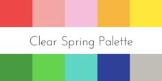 color analysis clear spring palette