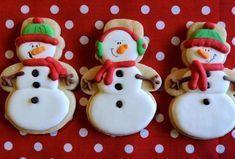 μπισκοτα - Page 3 of 10 - Daddy-Cool. Snow Cookies, Sweet Cookies, Cut Out Cookies, How To Make Cookies, Christmas Cookie Icing, Holiday Cookies, Christmas Art, Christmas Ideas, Sugar Cookie Frosting