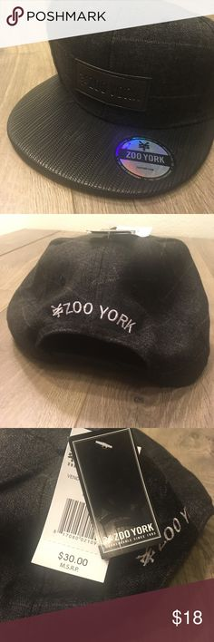 NEW Zoo York black flat bill hat Brand new with tags Zoo York Hat. Zoo York Accessories Hats