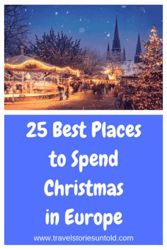 With the holidays just around the corner, here are 25 of the best places to spend Christmas in Europe. These are the best European Christmas destinations. Christmas In Europe, Christmas Travel, Holiday Travel, Christmas Markets, Merry Christmas, Christmas Destinations, Winter Destinations, Amazing Destinations, Travel Destinations