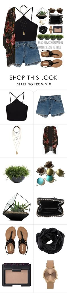 """Peace comes from within #"" by fashionstuffbyflavia ❤ liked on Polyvore featuring Miss Selfridge, Levi's, H&M, Zara, Ethan Allen, Retrò, Zadig & Voltaire, Aéropostale, NARS Cosmetics and Topshop"
