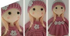 Como hacer muñeca amigurumi Bárbara Amigurumi Doll, Doll Patterns, Winter Hats, Crochet Hats, Barbie, Dolls, Cool Stuff, Creative, Activity Toys