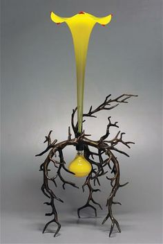 Chuck Savoie THE THICKET, 2013 Glass and bronze 36 x 20 x 17""