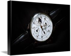 "Breguet Moonphase Triple Calendar Swiss watch canvas print in Stretched Canvas configuration. Price starts at $62 (Petite 7"" x 10""). #breguetwatch #breguet #canvas #canvasprint #photoincanvas http://www.imagekind.com/Breguet-Moonphase-Triple-Calendar-Swiss-Timepiece_art?IMID=60cf7cc5-000e-433f-9585-738260b6974f"