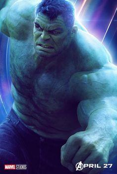 Novos posters individuais de Vingadores Guerra Infinita. Hulk de Mark Ruffalo está atualmente em um arco de história de três filmes que começou em Thor Ragnarok e continua em Avengers: Infinity War. Mal podemos esperar para ver aonde esta estrada leva! ⠀ Siga @central_vingadores