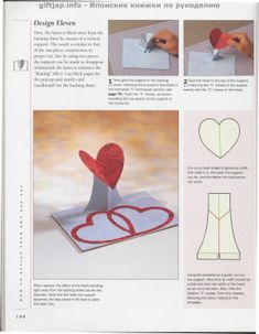 """Photo from album """"The Pop-Up Book"""" on Yandex. Origami And Quilling, Origami And Kirigami, Origami Art, Arte Pop Up, Pop Up Art, Heart Pop Up Card, Libros Pop-up, Paper Architecture, Card Making Tips"""