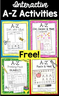 A-Z letter recognition, writing, fine motor skills, and more with these FREE sample activities!