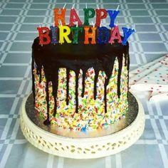 birthday cake with sprinkels