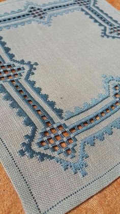 Hardanger Embroidery Design N Hardanger Embroidery, Learn Embroidery, Ribbon Embroidery, Cross Stitch Embroidery, Embroidery Patterns, Stitch Patterns, Doily Patterns, Dress Patterns, Weaving Techniques