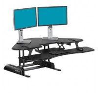 Varidesk Cube Corner 48 Black - Standing Desk