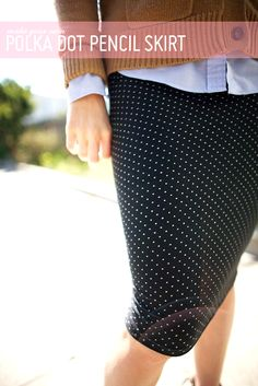 DIY Fast and Easy Pencil Skirt - FREE Sewing Tutorial