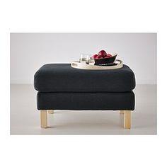 KARLSTAD Footstool, Korndal dark grey - Korndal dark grey - IKEA
