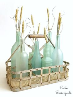 Wine Bottle Crafts – Beach Glass or Sea Glass Bottles for Coastal Decor crafts diy milk Wine Bottle Crafts: Beach Glass or Sea Glass Bottles for Coastal Decor