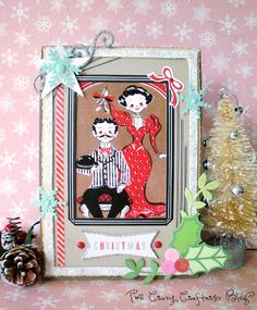 Two Crazy Crafters: Altered Vintage Christmas Frame Tutorial