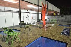 Jardim e Lazer Deck Prático Pinus instalado no Museu MUBE SP