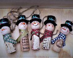 Handmade ornament | Etsy Snowman Christmas Ornaments, Diy Snowman, Ornament Crafts, Handmade Ornaments, Handmade Christmas, Christmas Crafts, Snowmen, Christmas Ideas, Christmas Lanterns