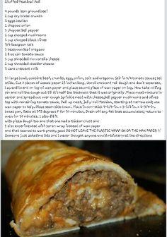 Stuffed Meatloaf Rolls