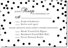 diamond sky signature white wedding response cards in black or smoke petite alma