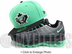 Toronto Blue Jays Treasure Isle Green Black White Metallic Silver New Era Hat