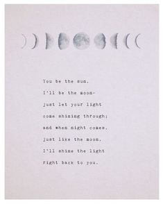 Moon poetry art phases of the moon moon quote by Riverwaystudios