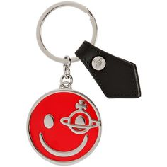 Vivienne Westwood Women Gadget Smile Metal Key Holder (31.240 CLP) ❤ liked on Polyvore featuring accessories, red, vivienne westwood and metal key rings