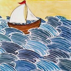W is for water sailing the open seas . . . . . #illustration #watercolor #watercolour #art #drawing #illustrated #kidslitart #kidslit #childrensillustration #childrensliterature #brooklyn #freelance #kidsbook #bookillustration #artist #drawings #fineart #myart #painting #children #kids #creative #artsy #illustrator #colorful #pin #twitter #maker #creater #sailing