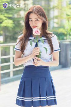 Lee Chae Young of new girl group training show 'Idol School' gets stirred up in a bully controversy School Girl Japan, School Girl Outfit, Cute School Uniforms, School Uniform Girls, Girls Uniforms, Wattpad, School Fashion, Women's Fashion, Beautiful Asian Girls