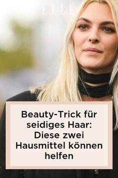 Beauty-Trick: Es gibt zwei Hausmittel, die für seidiges und gepflegtes Haar sorgen! Welche es sind, zeigen wir im Elle-Video! #beauty #haut #hautpflege #skincare #haare #haarpflege