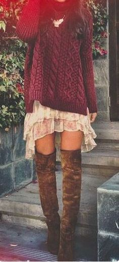 ╰☆╮Boho chic bohemian boho style hippy hippie chic bohème vibe gypsy fashion indie folk the . Bohemian Fall Outfits, Fall Winter Outfits, Autumn Winter Fashion, Winter Wear, Boho Fashion Fall, Dress Winter, Bohemian Winter Fashion, Bohemian Fashion Styles, Spring Outfits