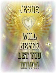 JESUS WILL NEVER LET YOU DOWN !!!!